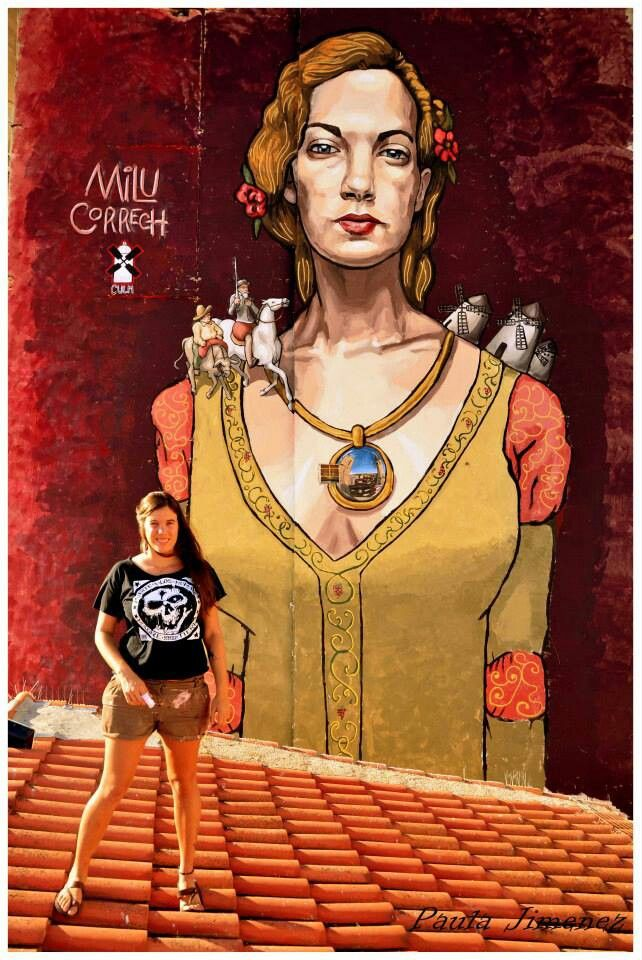 Milu Correch and her beautiful Dulcinea in Quintanar de la Orden (Spain): Correch Streetart, Streetart Curat, Art Streetart, Awesome Www Milucorrech Com, Correch Spain, Art Spain, Streetart Awesome, Art Urbano, La Orden Spain