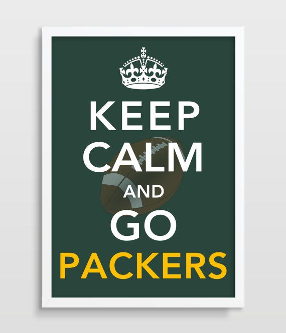 Keep Calm FOOTBALL Print  Green Bay by TheWatermelonFactory