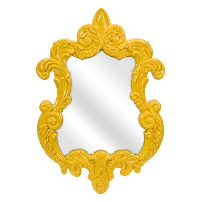 IMAX Finely Baroque Yellow Wall Mirror