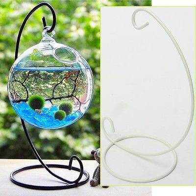 Creative Iron Candlestick Glass Ball Hanging Holder Light Holder Candle Stand