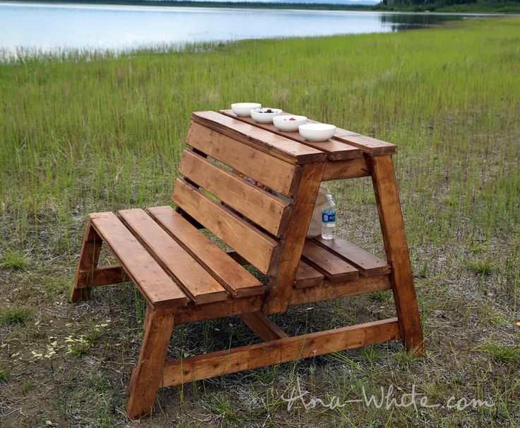 Firepit Benches with Table and Storage | Ana White | Bloglovin'