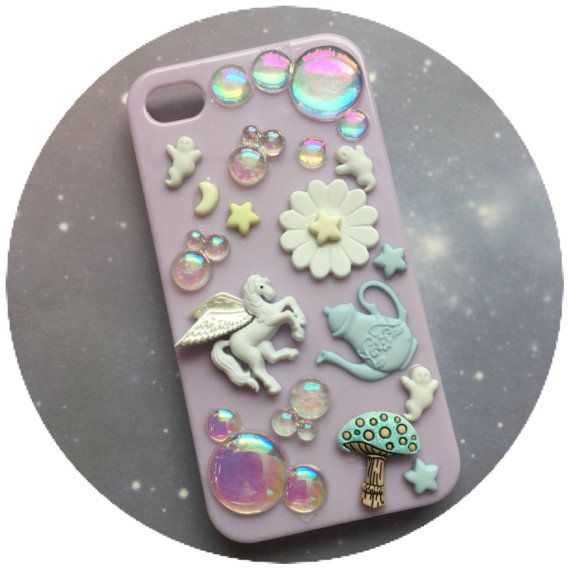 SALE iPhone 4 case Unicorn Pegasus Pastel by lotusfairy on Etsy