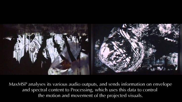 La obra SITRUUNA JA MEDUUSA de los artistas Merja Nieminen (visual) y James Andean (sonoro) construye un sistema dinámico con gráficos 3D y sonido proyectado creando un entorno virtual que cambia y se desarrolla en tiempo real. Fue realizada en los entornos de programación Processing y MaxMSP.