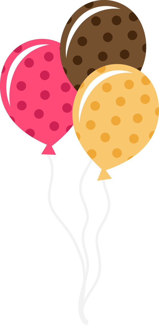 Birthday themed SVG cutting file for scrapbooking and paper crafts. (http://www.ppbndesigns.com/polka-dot-balloons/)