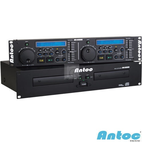 """ONLY : 159€ Professional dual CD player. The Antoc Twin CD Player AN-D2000 is a 19 """"rackable dual CD player which is very suitable for DJ's and includes a wide range of functions. Make precise loops, pitch the track with three different pitch ranges (+ / -8%, + / -12%, + / -16%) or set the exact desired cue point. More Info / Available here: http://www.recordcase.de/en/antoc-twin-cd-player-an-d2000,i25.htm?pid=Google-Ehlen"""