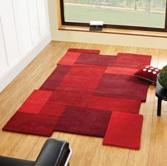 Funky Rugs, Red Rugs, Modern Rugs, Contemporary Rugs, Unique Rugs,  Contemporary Interior, Living Room Rugs, Wool Rugs, Collage