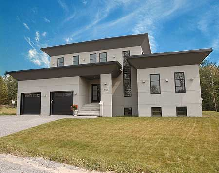 10 best Modern House Plan with 2nd Floor Terace 21679DR images on