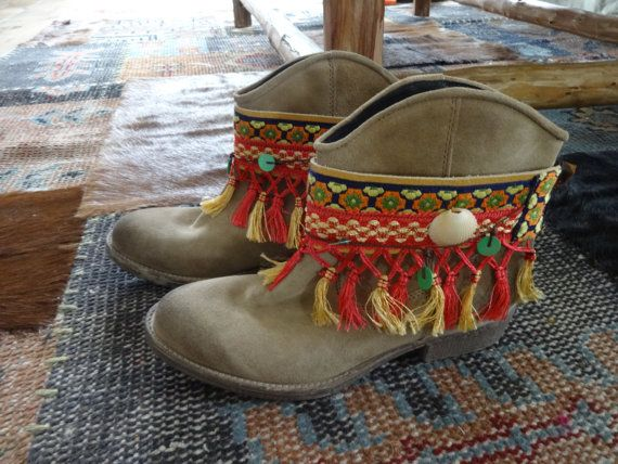 Gypsy Cowgirl boho bootcovers boot wraps by DazzlingGypsyQueen