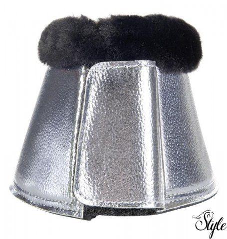 HKM metálfényű szőrmés pataharang Metallic