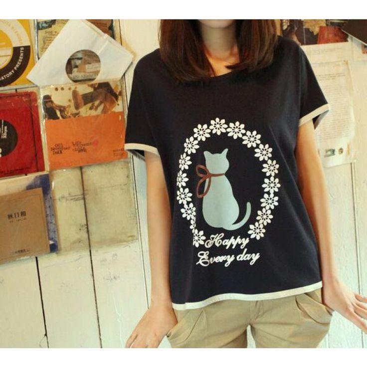 Damen Komik Katzen Shirt