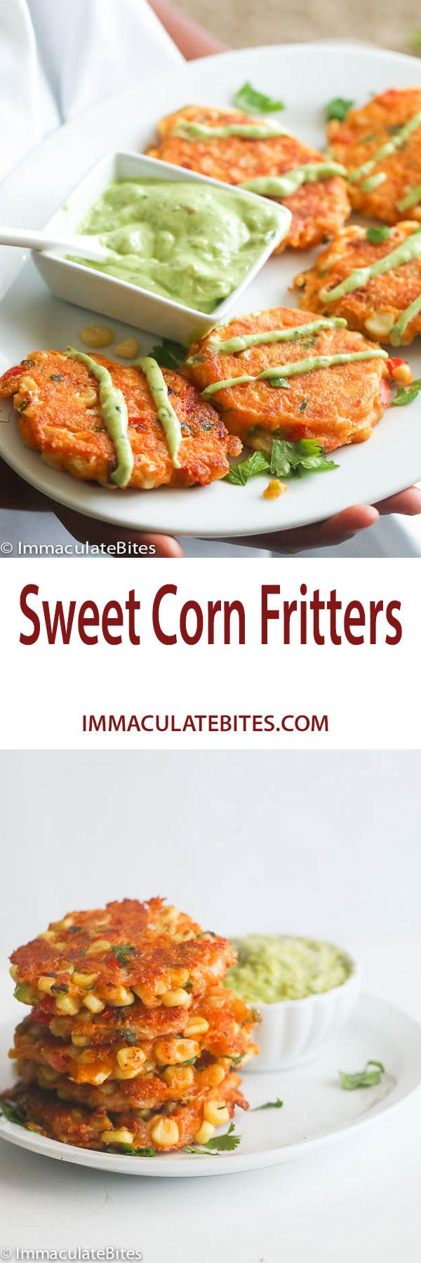 ... Corn Fritters on Pinterest | Fritters, Cauliflower Fritters and Corn
