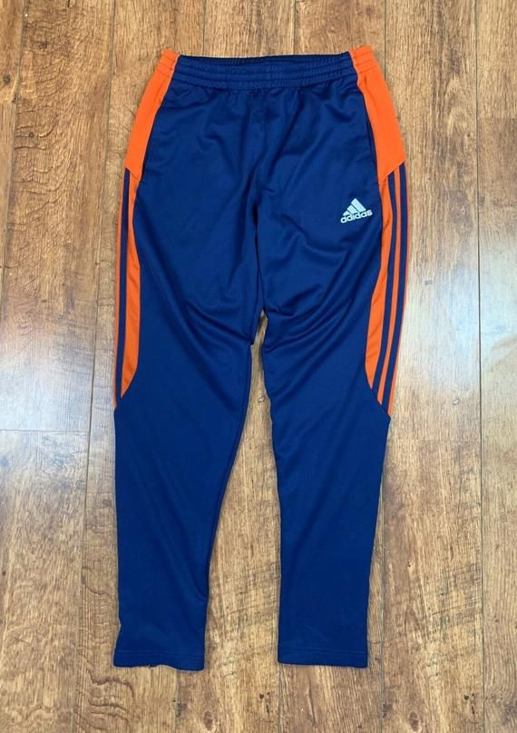 Men's Adidas ClimaCool Track Pants Trackies Tracksuit Bottoms Blue ...