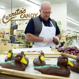 Cerreta's Candy in Glendale.  Take a tour and taste some chocolate.  Mmmm.