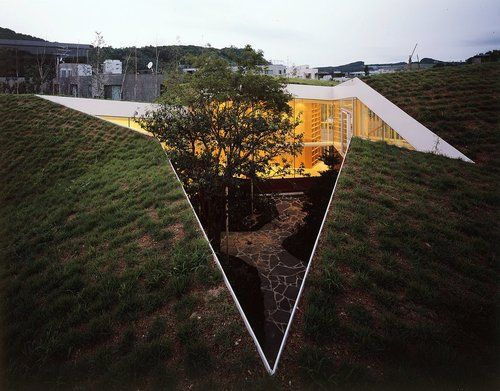 Loop House by NL Architects The house is not in the garden, the garden is in the house.