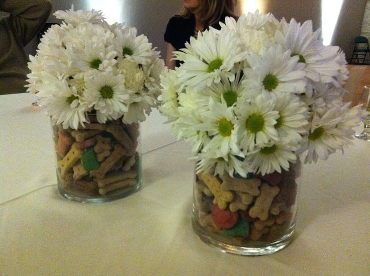 Centerpieces for a Bay Area Humane Society fundraiser!