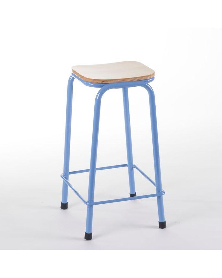 School bar stool - blue 65cm