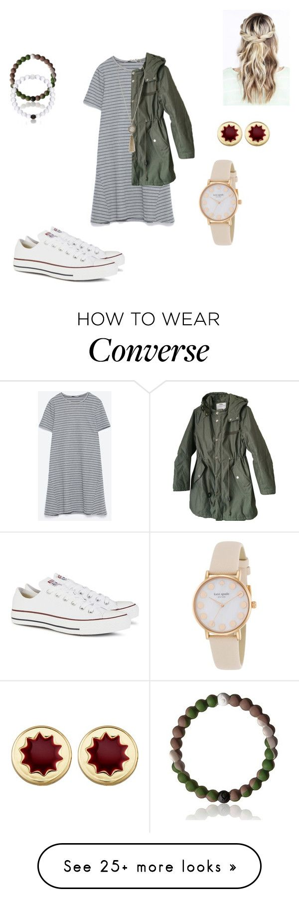 """""""""""C"""" for Converse"""" by mduerr on Polyvore featuring Converse, Zara, Cheap Monday, Lucky Brand, Everest, House of Harlow 1960 and Kate Spade"""