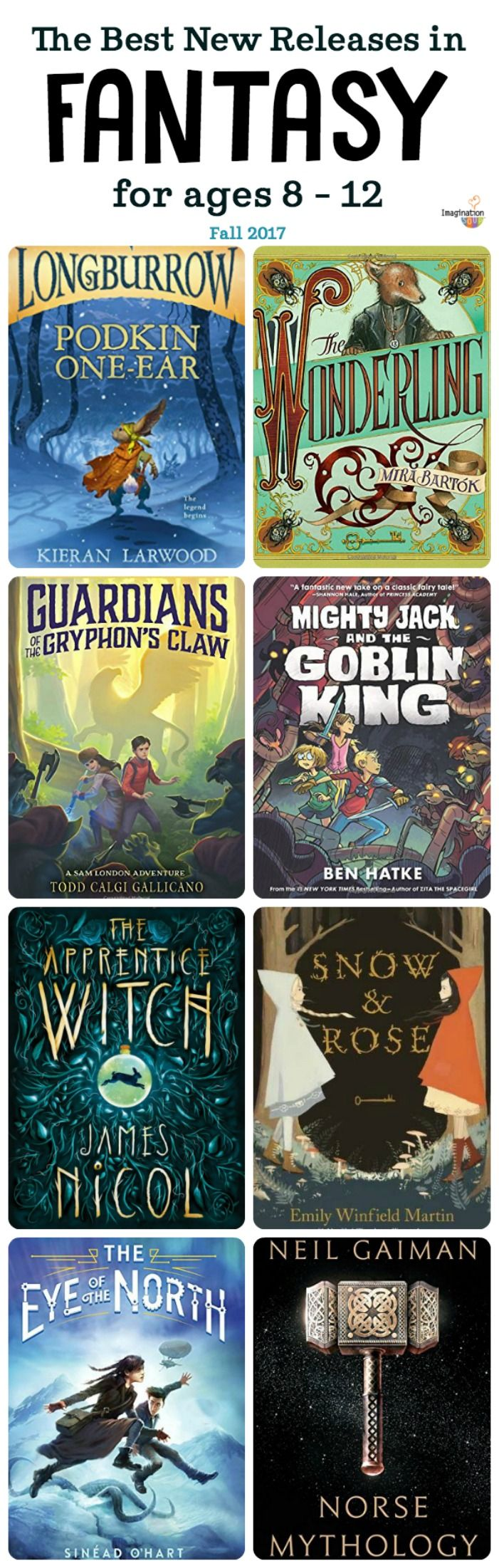 check out these awesome fantasy book new releases for elementary and middle school kids