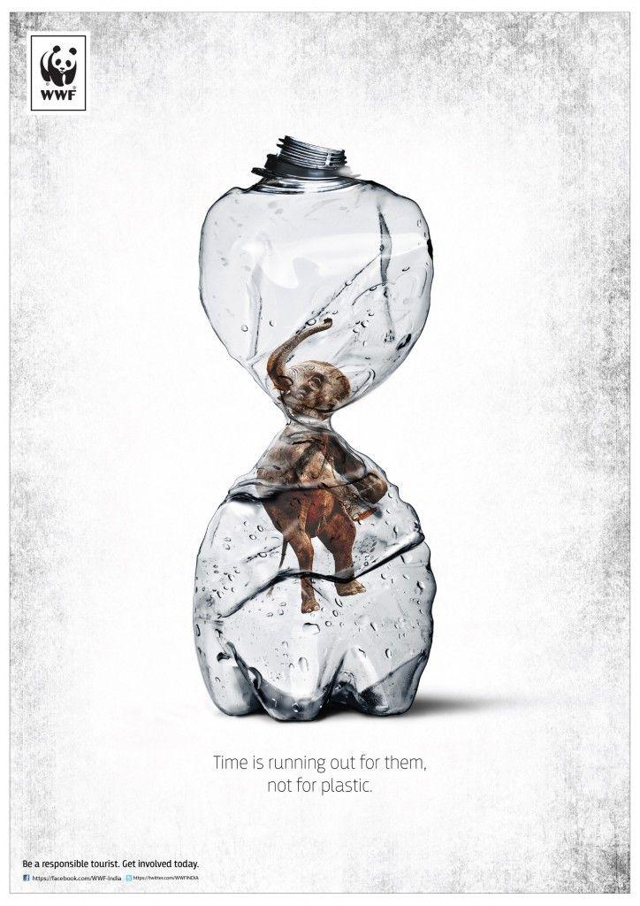 WWF India #Elephant & Rhino Plastic #Bottle Ads | http://www.gutewerbung.net/wwf-india-elephant-rhino-plastic-bottle-ads/ #Advertising