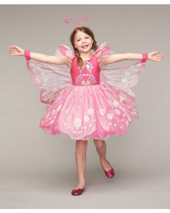 Костюм бабочки для девочки - розовый | чеканка светлячков