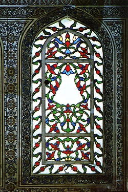 Examples of stained glass windows in Mimar Sinan's work