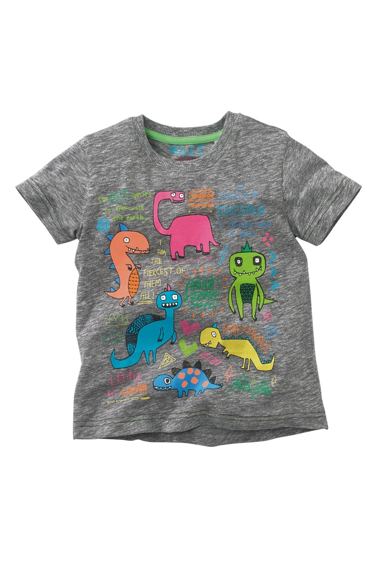 Buy Grey Printed Dino T-Shirt (3mths-6yrs) from the Next UK online shop
