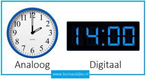 Klokkijken analoog en digitaal