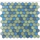 hammered hex ( aqua )  i really love the shape of these tiles the also come in grey