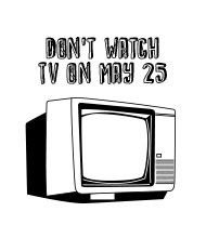 Don't watch TV customizable temporary tattoo: cool save-the-date for a party
