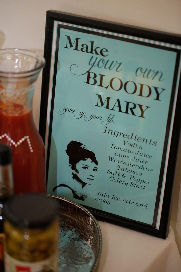 Tiffany Bloody Mary Bar