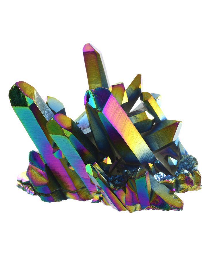 Titanium Rainbow Quartz Rock Figure