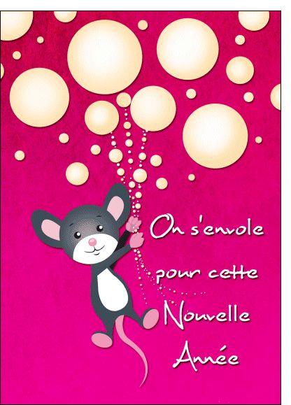 Carte Envole pour une nouvelle annee pour envoyer par La Poste, sur Merci-Facteur !