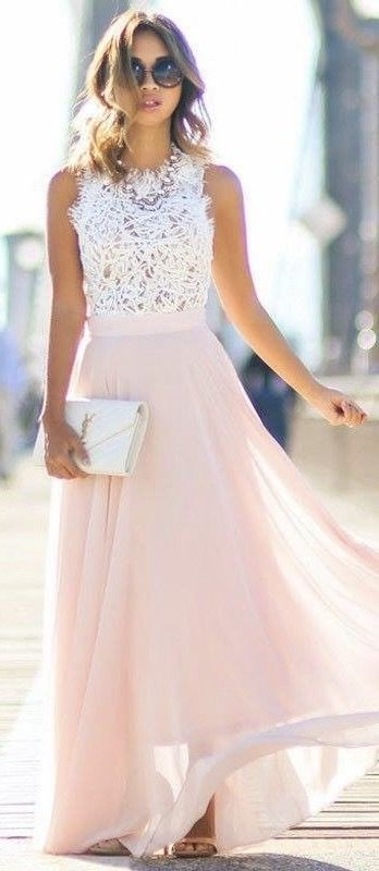 ~~~GORGEOUS!  Beautiful lace and blush pink dress.  Great as a wedding guest dress! Try stitch fix today and get looks just like these delivered right to your door. Just click the picture to get started with your own personal stylist! Stitch fix spring. Stitch fix summer #affiliatelink