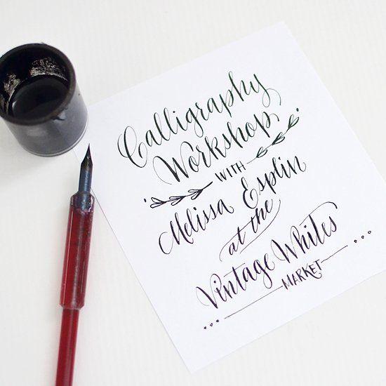 calligraphy-workshop-SLC-at-vintage-whites-market