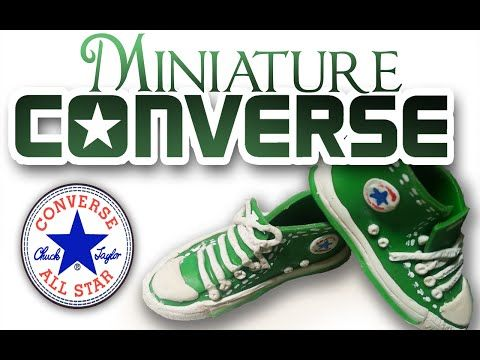 """Polymer Clay Doll Shoes: Converse Sneakers """"All stars"""" 