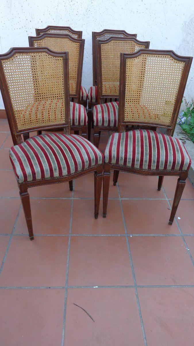 Un juego de silla con respaldo de esterillas mercado for Sillas con respaldo