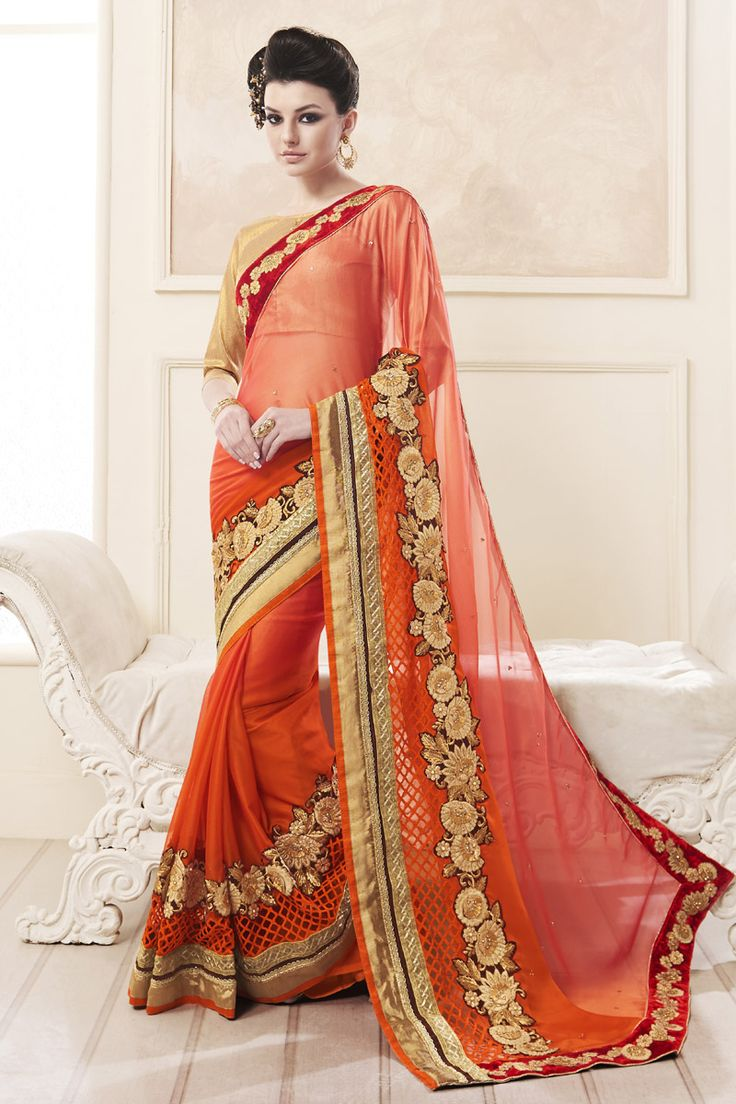 Buy This Orange Shaded Metal Chiffon Heavy Zari Embroidery Work Designer Party Wear Saree. Buy Now:- http://www.lalgulal.com/sarees/orange-shaded-metal-chiffon-heavy-zari-embroidery-work-designer-party-wear-saree-715 Cash On Delivery & Free Shipping only in India.For Other Query Just Whatsapp Us on +91-9512150402 Or Mail Us at info@lalgulal.com.