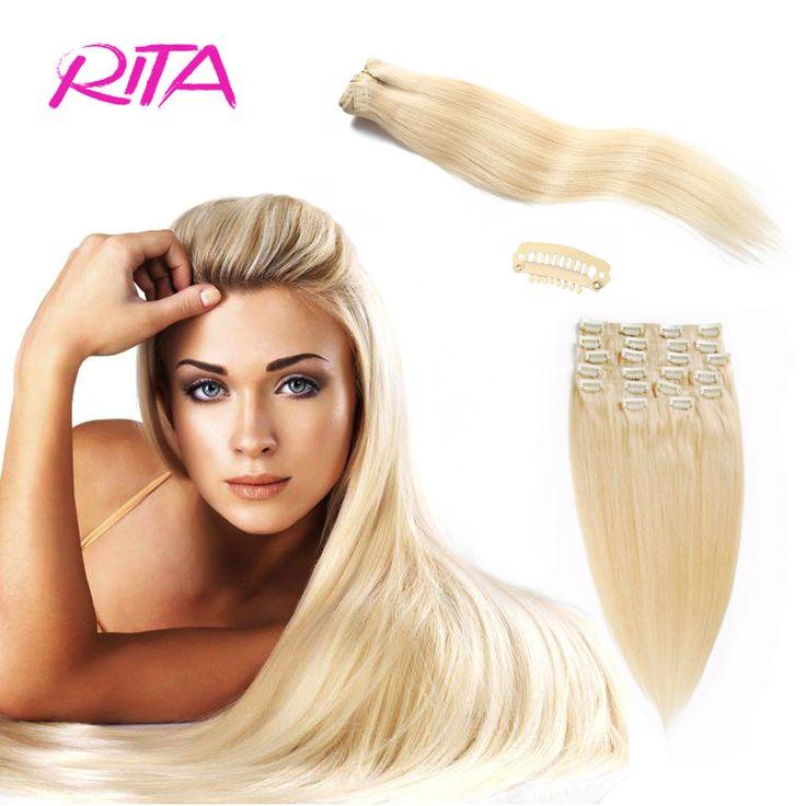 Full Head Set Clip ins 70-200g Clip In Human Hair Extensions Blonde  Human Hair Clips In Platinum Blonde Brazilian Clip In Hair
