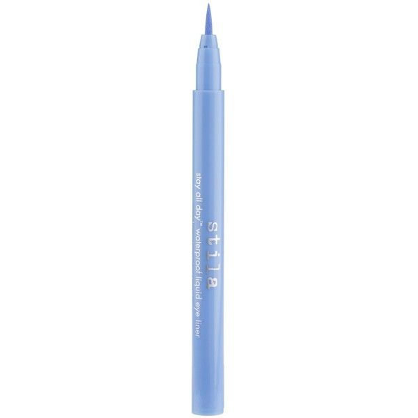 Stila Stay-All-Day Waterproof Liquid Eyeliner - Colour Periwinkle ($19) ❤ liked on Polyvore featuring beauty products, makeup, eye makeup, eyeliner, stila, liquid eye-liner, liquid eyeliner, liquid eye liner and stila eyeliner