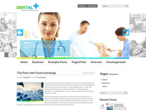 Dental is beautiful free WordPress theme for personal web pages - free feedback form