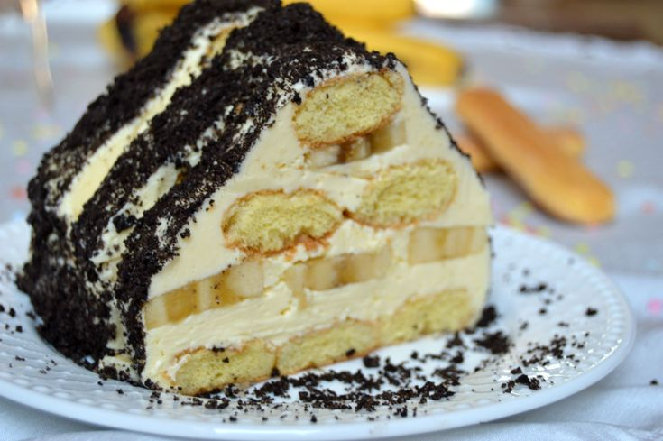 Cabana cu piscoturi, banane si vanilie | Miremirc