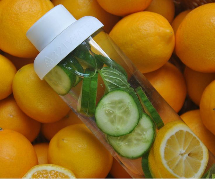 Cucumber and orange infused water ... yes please