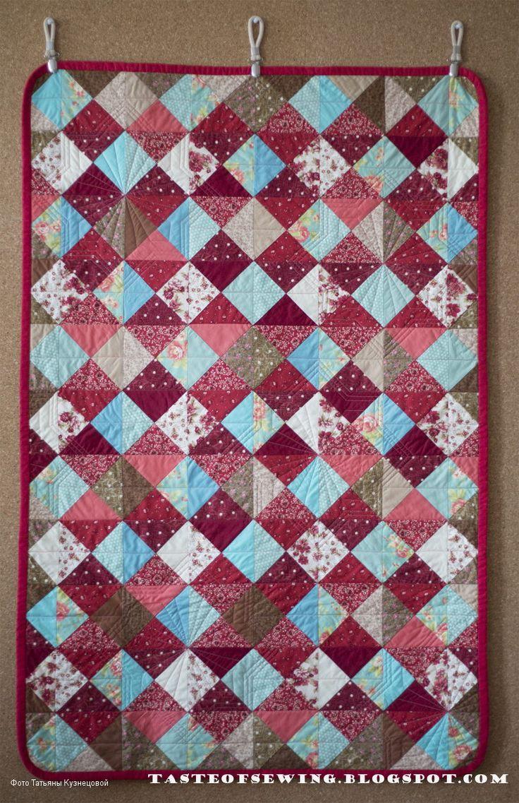 A taste of sewing: лоскутное одеяло для малыша