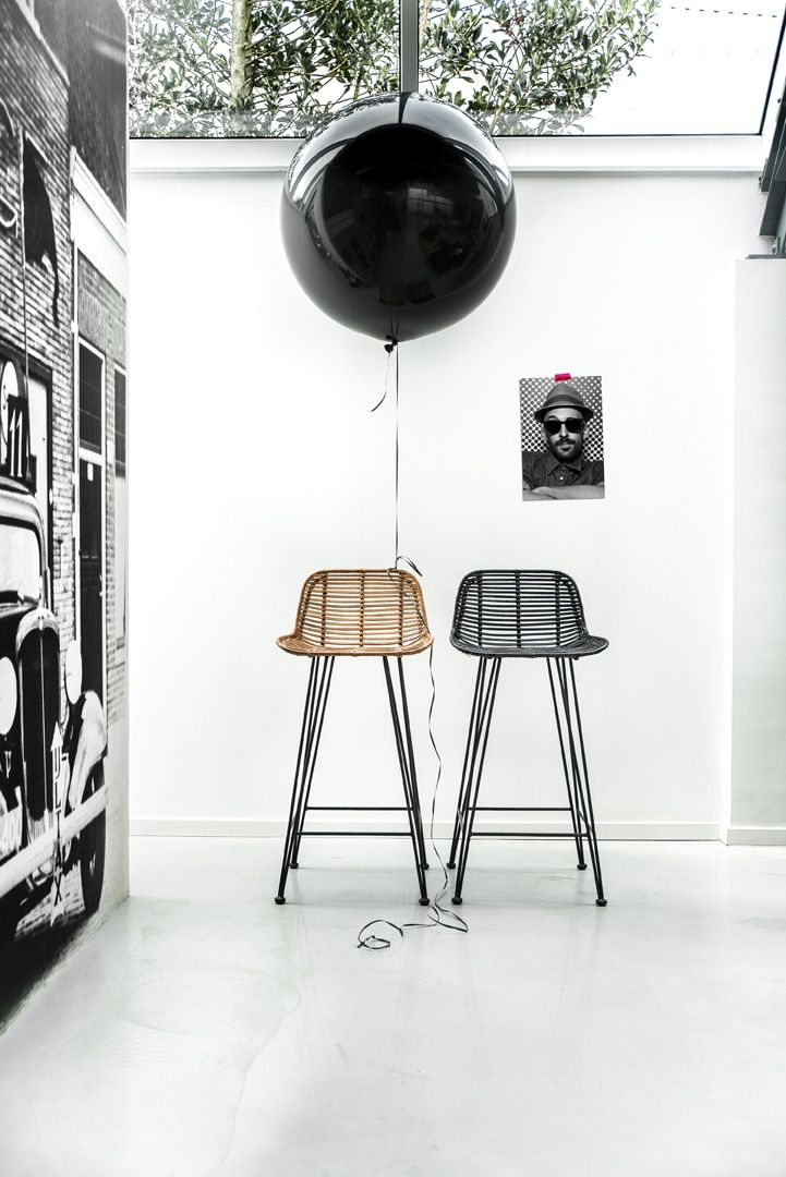HKliving rattan barstools // Products available on e-homelovers.pl