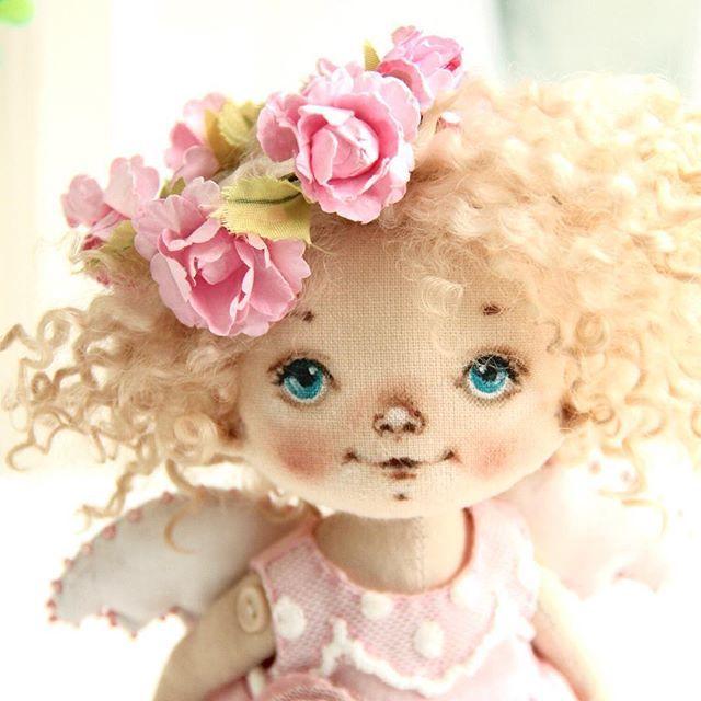 Новый Ангел, очень нежная девочка получилась! #куклысахаровойнатальи #ангел #куклаизткани
