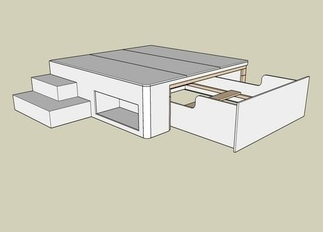 Building a Bed Frame Plans | ve done some planning in Sketchup a while ago which resulted in the ...