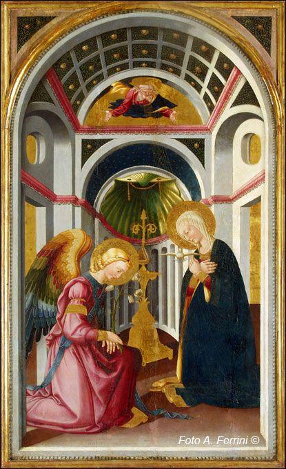 Neri di Bicci - Annunciazione - 1465 ca. - Chiesa del Convento di Certomodo a Poppi in Casentino