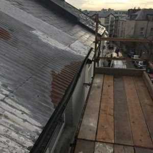 Before Roof Restoration Dominick Street Galway