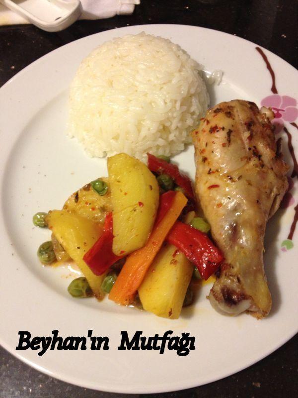 Fırında tavuk baget, yemekler, iftar yemekleri, ramazan menüsü, tavuk yemekleri, fırın yemekleri, fırında tavuk tarifi, sebzeli tavuk, fırında baget