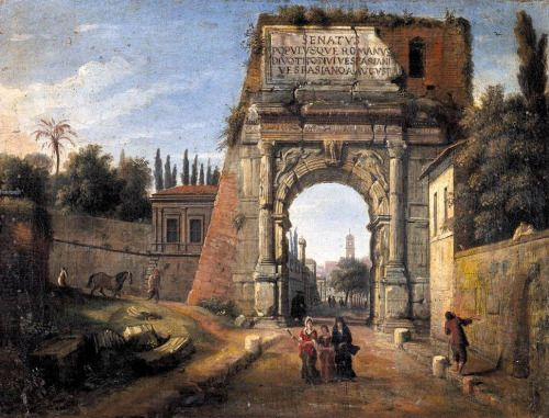 Caspar van Wittel - Rome: View of the Arch of Titus 1710s oil on canvas Private collection
